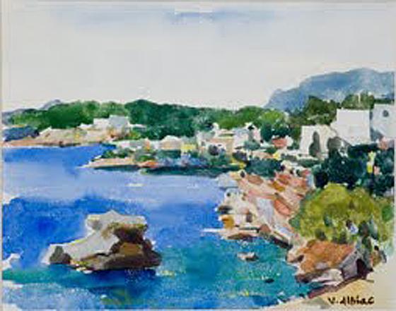 Virgilio Albiac, Paisaje costero, Mallorca en Pintura, Mallorca pintada, Paisajes de Mallorca