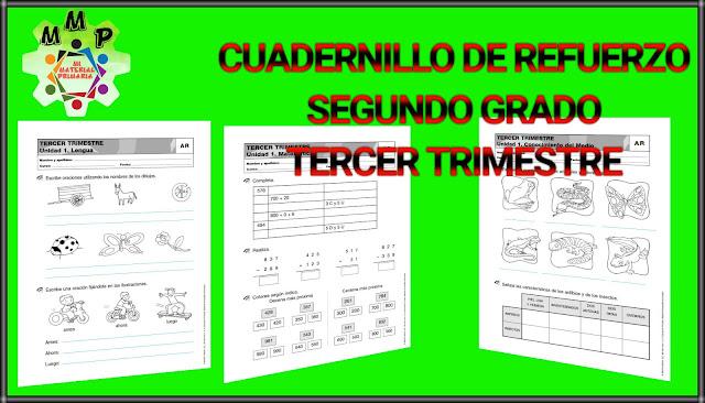 CUADERNILLO DE REFUERZO-TERCER TRIMESTRE-2°