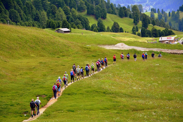 Hiking, Trail, Mountain Walk, Group Backpack, excursion co-curricular school activities
