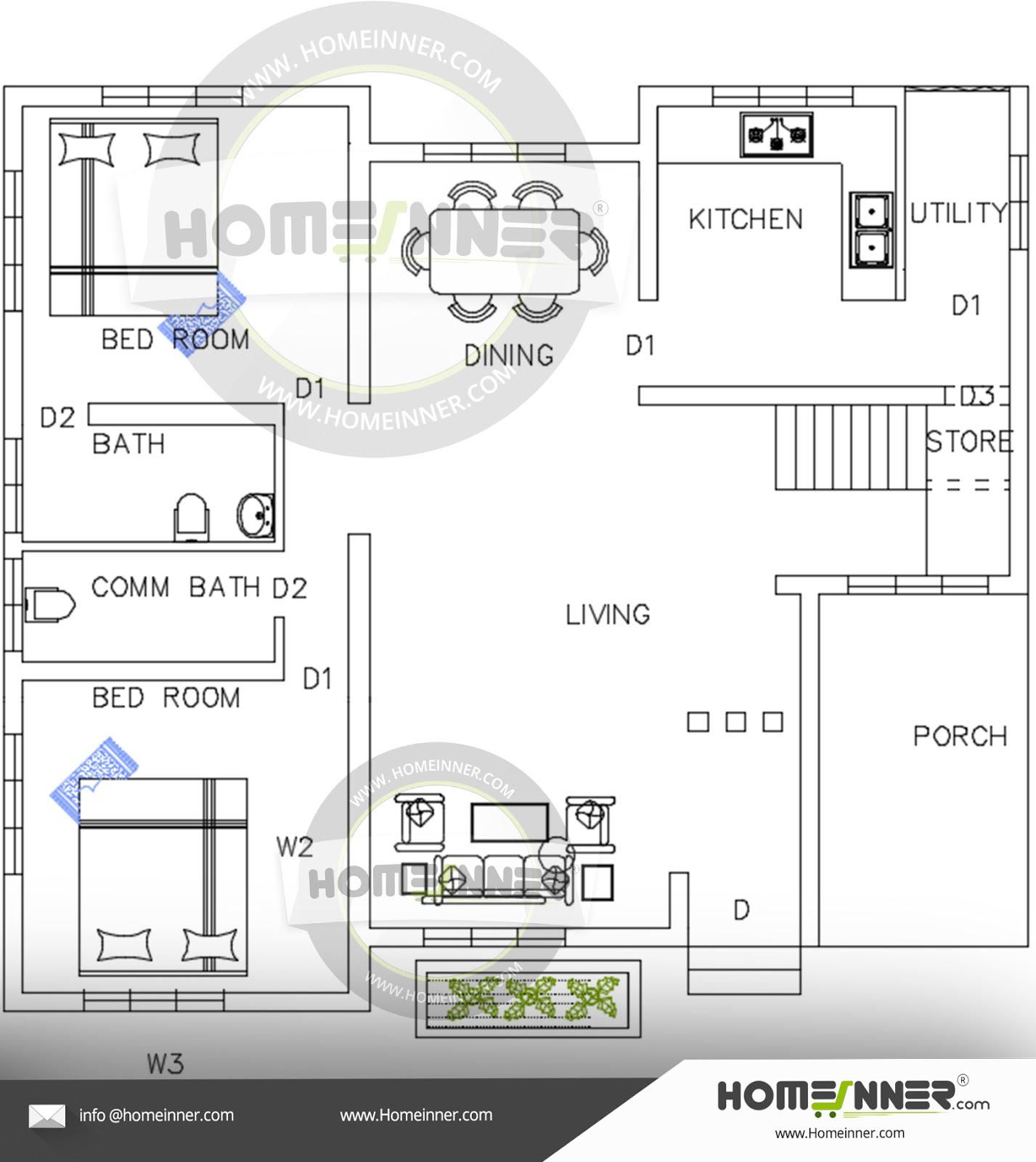 Kerala home design single floor luxury villa