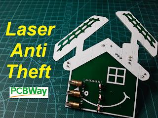 Laser anti theft circuit