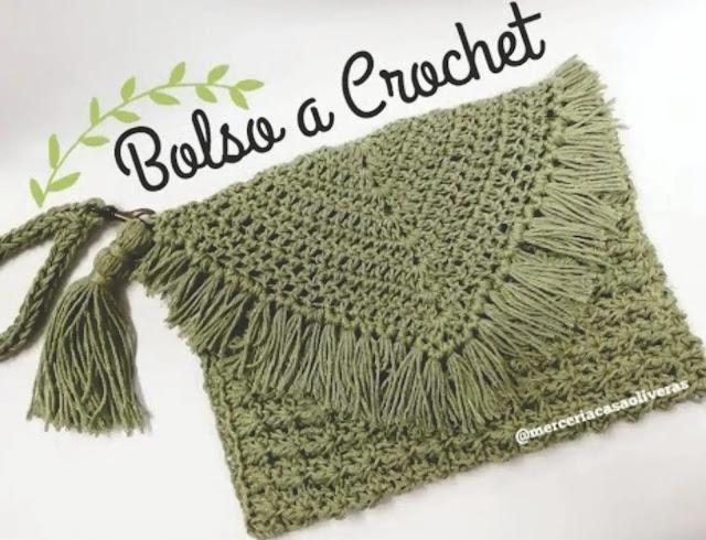 Tutorial Bolso Sobre a Crochet (Clutch) Paso a Paso