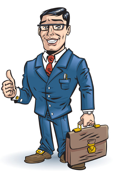 Cartoon Business Man Clip Art