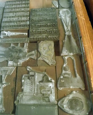 formas tipográficas no Museu Nacional da Imprensa