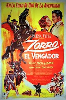 Zorro, el vengador (1959) Aventuras con Guy Williams