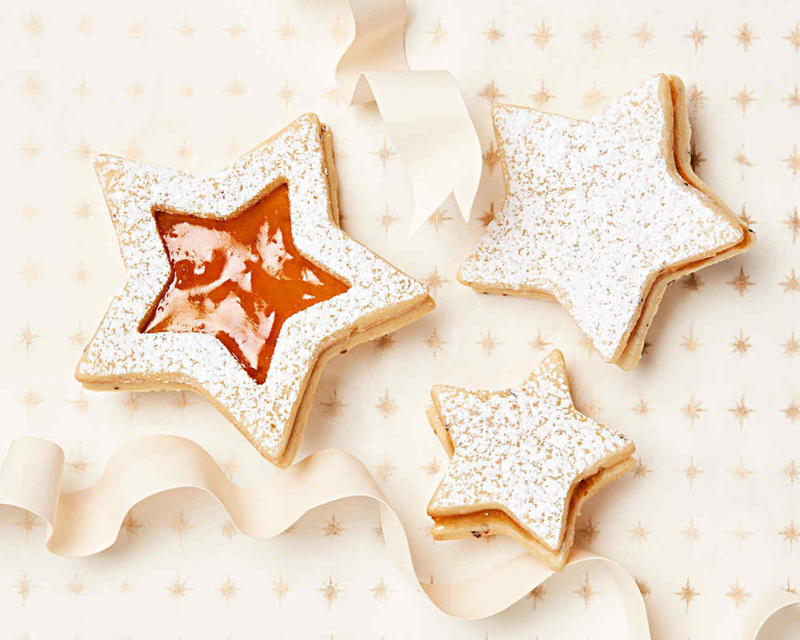 Anise Shortbread Sandwich Cookies