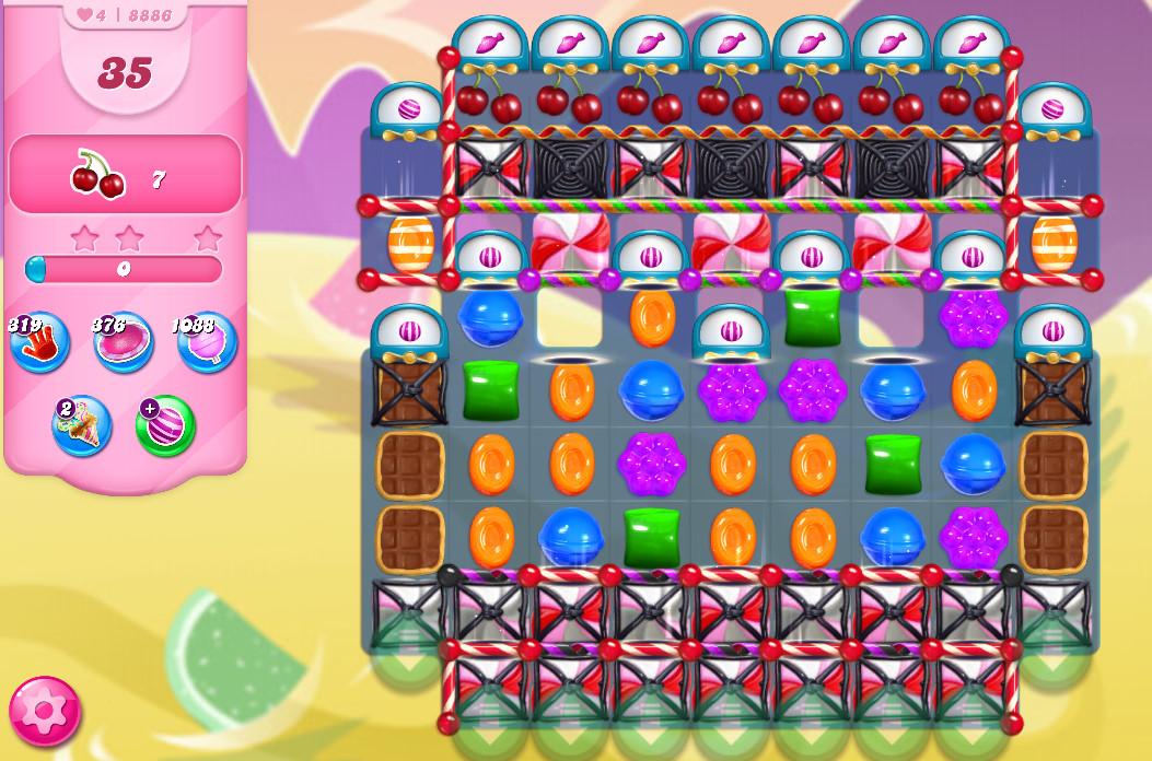 Candy Crush Saga level 8886