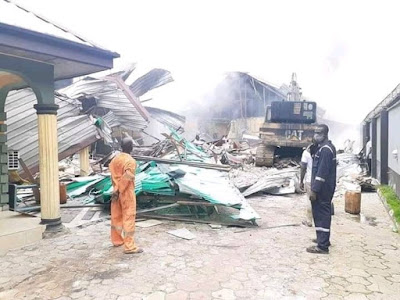 PHOTOS: Wike Demolish Hotel for Violating Lockdown Orders