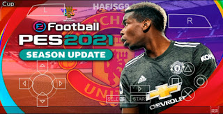 Download PES 2021 PPSSPP Manchester United Edition Update Real face & Full Transfer (January)