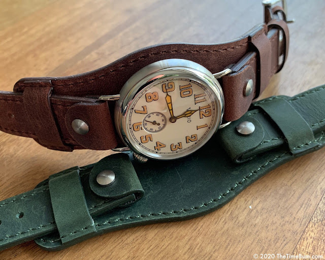Vario 1918 Trench Watch brown and green bund