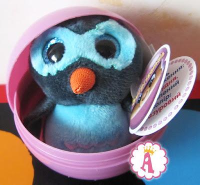Мягкая игрушка сюрприз в шаре пингвиненок очень редкий Сюрпризамалс