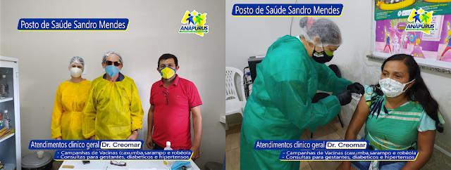 PREFEITURA DE ANAPURUS: Saúde para todos, com atendimentos de clinico geral e campanha de vacinação no Posto de Saúde Sandro Mendes