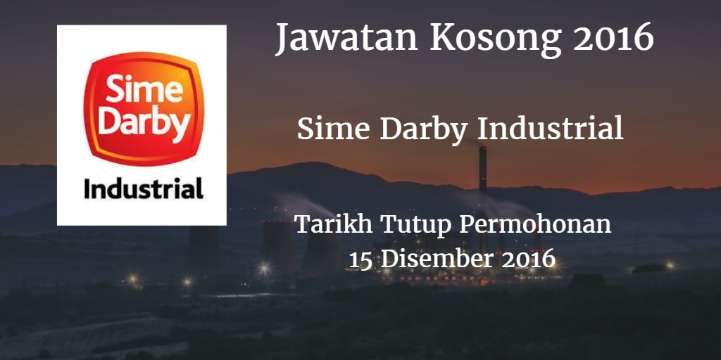 Jawatan Kosong Sime Darby Industrial 15 Disember 2016