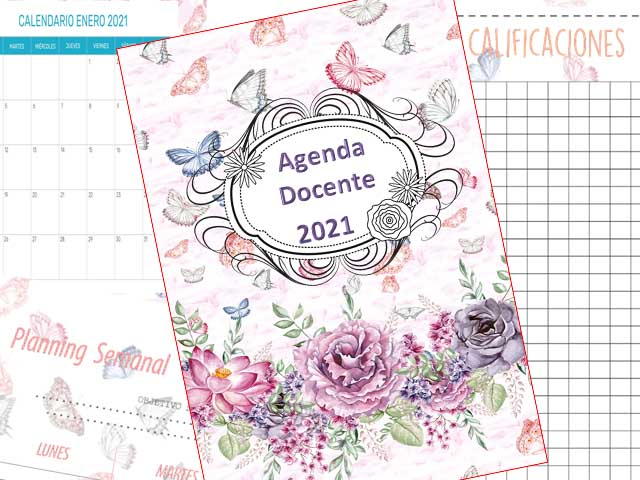 Agenda Docente 2021 - Mariposa - 177 páginas