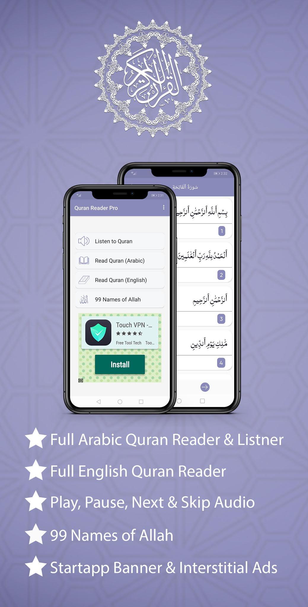 Quran Reader Pro | Listen & Read Full Holy Quran App for Muslims - 1
