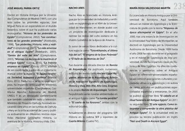 """IX Jornadas de Egiptología"""