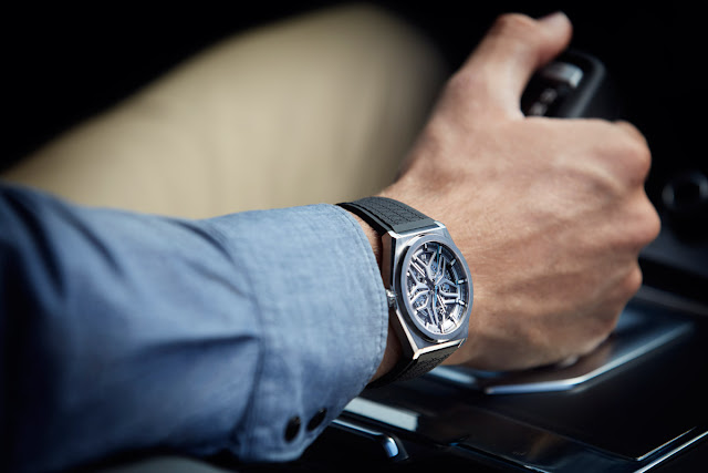 Wristshot of the Zenith Defy Classic Range Rover Special Edition