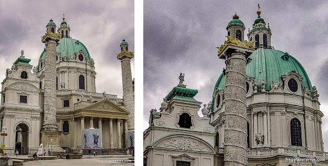 Karlskirche (Igreja de São Carlos), Viena, Áustria