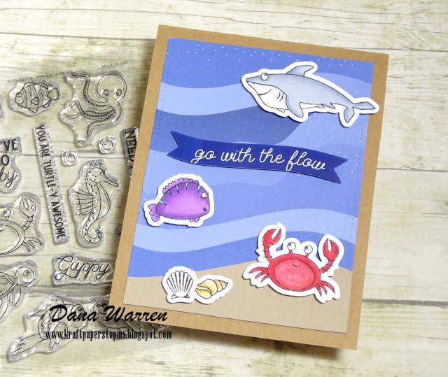 Dana Warren- Kraft Paper Stamps - Photoplay Paper