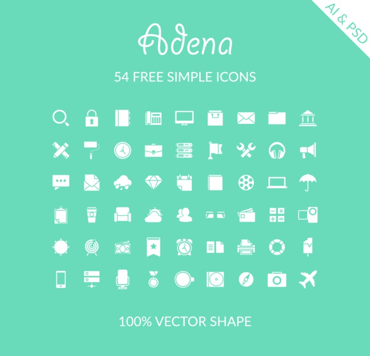 54 Free Simple Icons