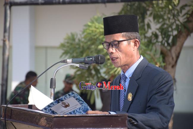 Peringati HUT 55 Tahun Lampung, Ketua DPRD Waykanan Bacakan Sejarah Berdirinya Sai Bumi Ruwa Jurai