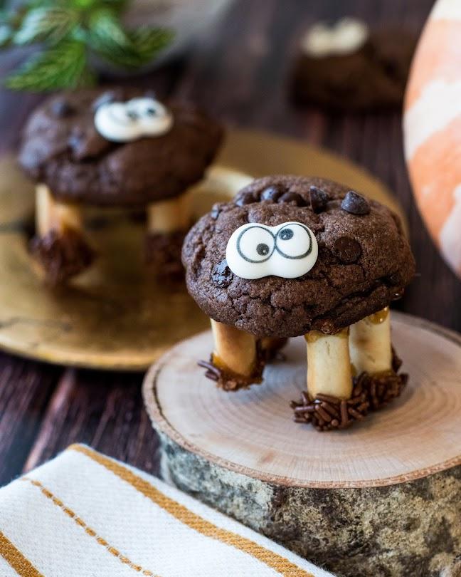 recette cookies halloween chocolat araignée