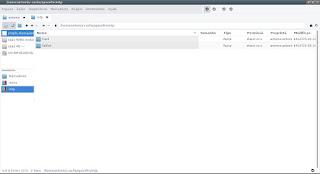 SpaceFm transferindo arquivos através do jmtpfs