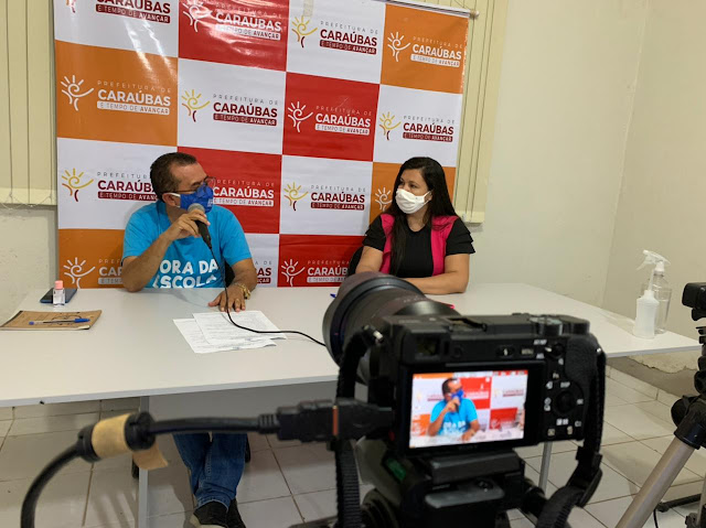 Em live secretário de Educação de Caraúbas faz balanço de um ano de pandemia na área do aprendizado