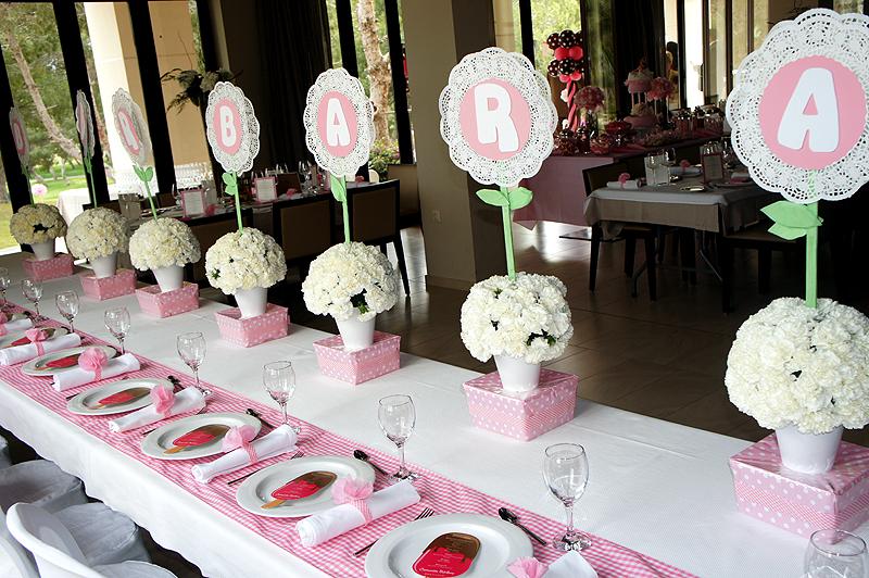 Manualidades e ideas para tus fiestas infantiles mesas - Decoracion de mesa para comunion ...