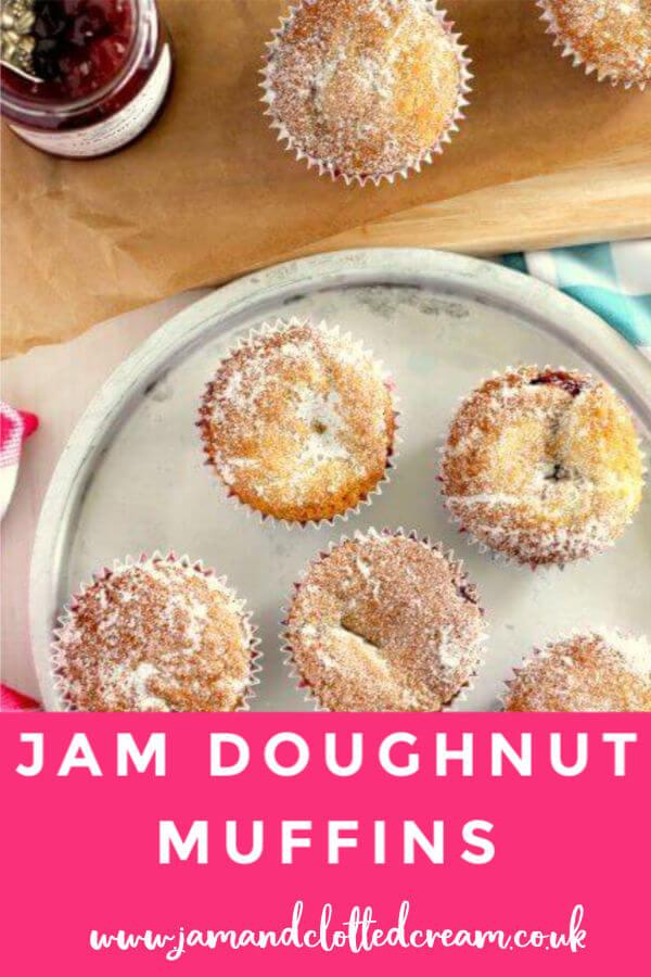 Jam Doughnut Muffins #muffins #jam #doughnut #easyrecipe #baking