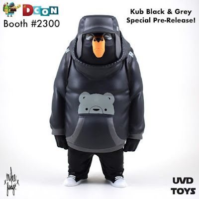 Designer Con 2019 Exclusive KUB Black & Grey Edition Vinyl Figure by Mike Fudge x UVD Toys