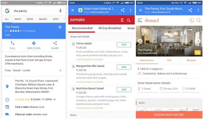 Google now lets you order out or book a table from Search