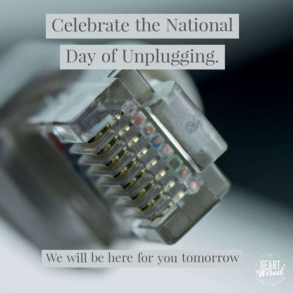 National Day of Unplugging Wishes Awesome Images, Pictures, Photos, Wallpapers