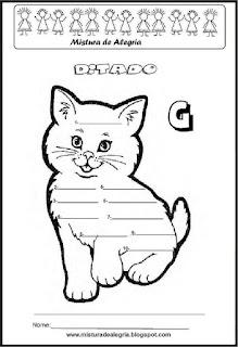 Treino ortográfico letra G de gato