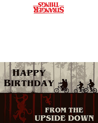 Stranger Things Birthday printables