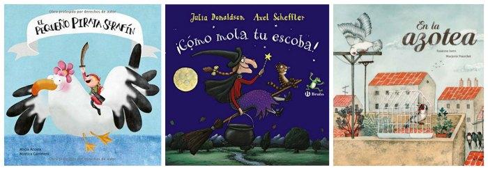 mejores cuentos y libros infantiles del 2016, pirata serafín, mola escoba, azotea