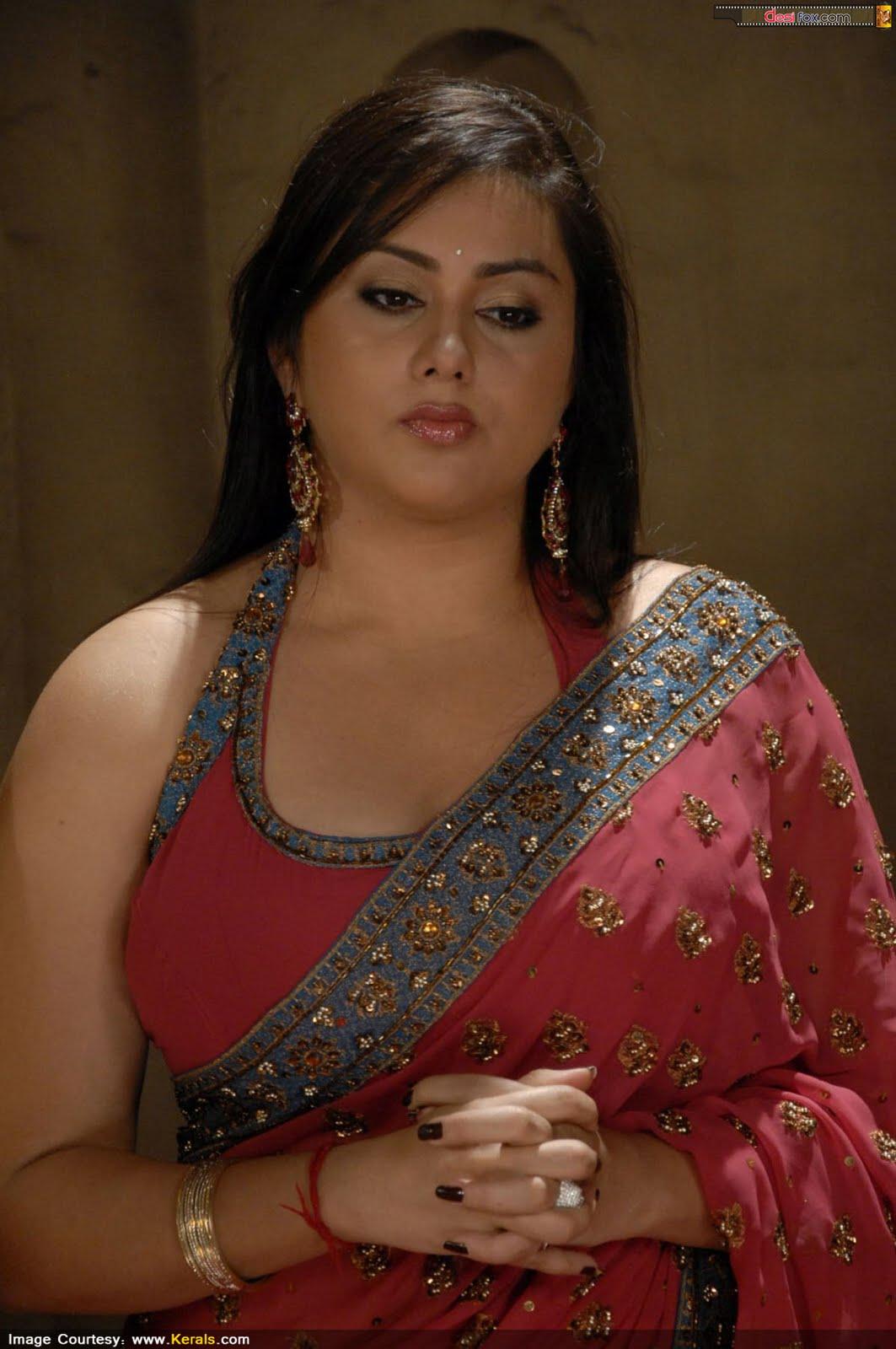 Malayalam Posters Namitha In Beautiful Saree- Huge Boobs -6809