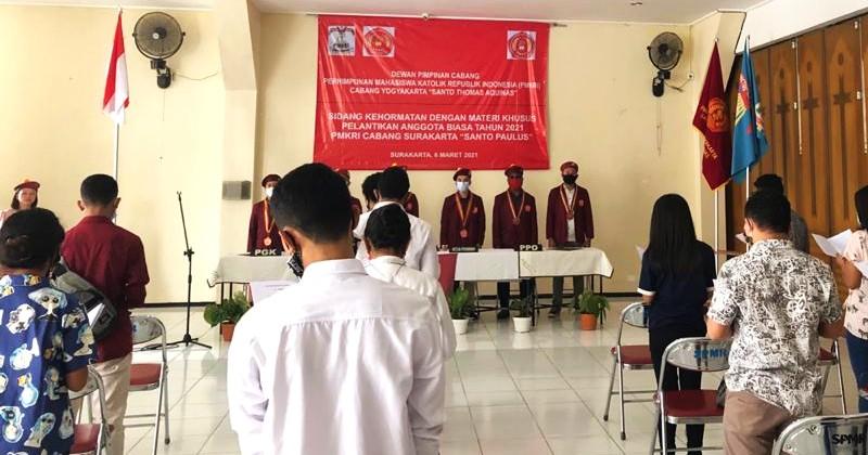 PMKRI Yogyakarta Lantik Anggota PMKRI Cabang Surakarta