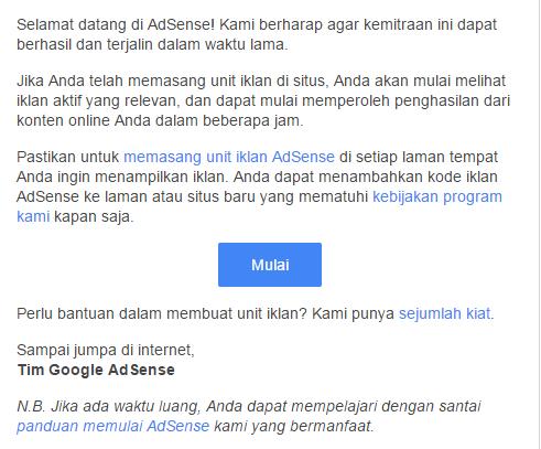 cara daftar google adsense via hp