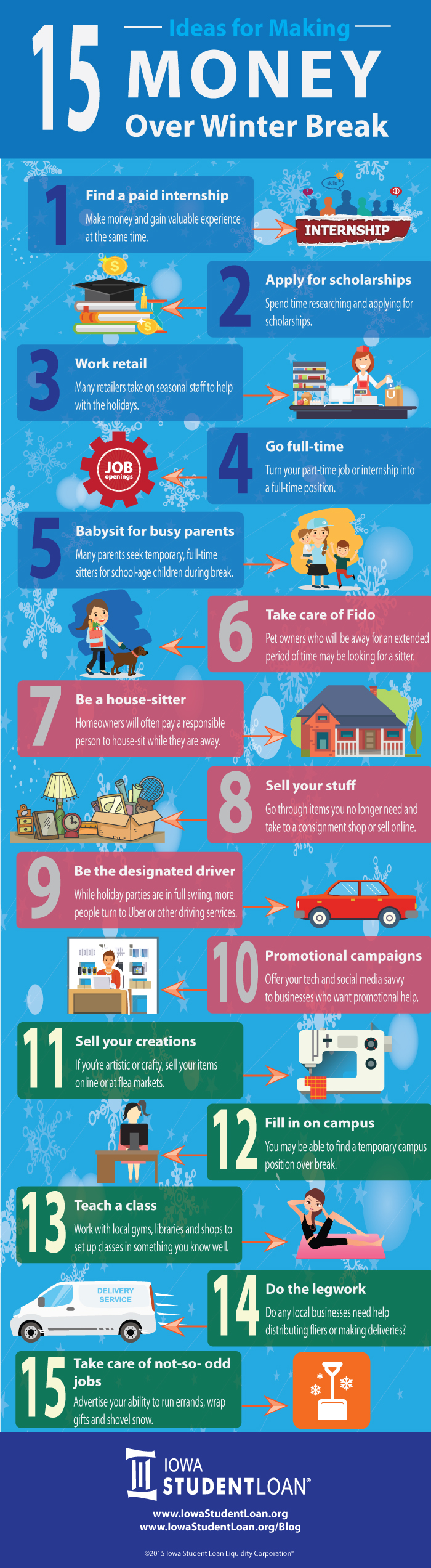 5 Ideas for Making Money During Winter Break #infographic #Make Money #How to Make Money #Ideas #Winter Break #Holiday Season #Money