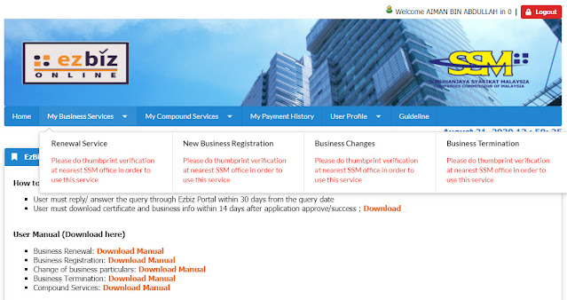 Cara Daftar Perniagaan SSM Secara Online Terbaru Untuk Tahun 2020