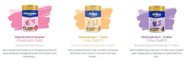 Produk Susu Friso untuk Kesehatan Ibu dan Pertumbuhan Anak