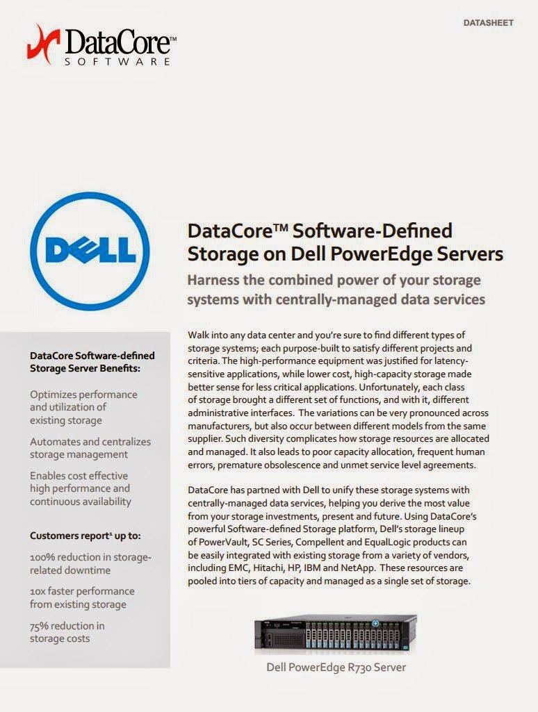 DataCore Offers Pre Tested Software defined Storage Solutions Based on Dell PowerEdge Servers and is Named a Certified Dell Technology Partner
