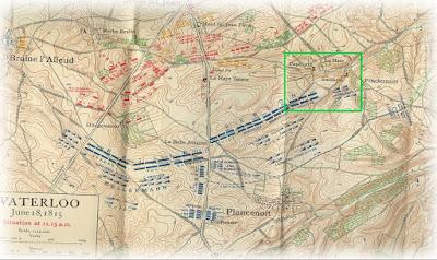 Combat de la Papelotte 1815 (Waterloo) Carte%2BWaterloo%2B1815