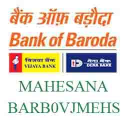 Vijaya Baroda Bank Mehsana Branch New IFSC, MICR