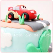Tarta fondant cars rayo Mc Queen
