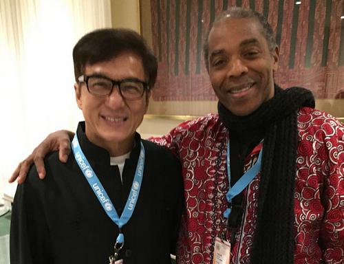 Photo: Femi Kuti Poses With Jackie Chan
