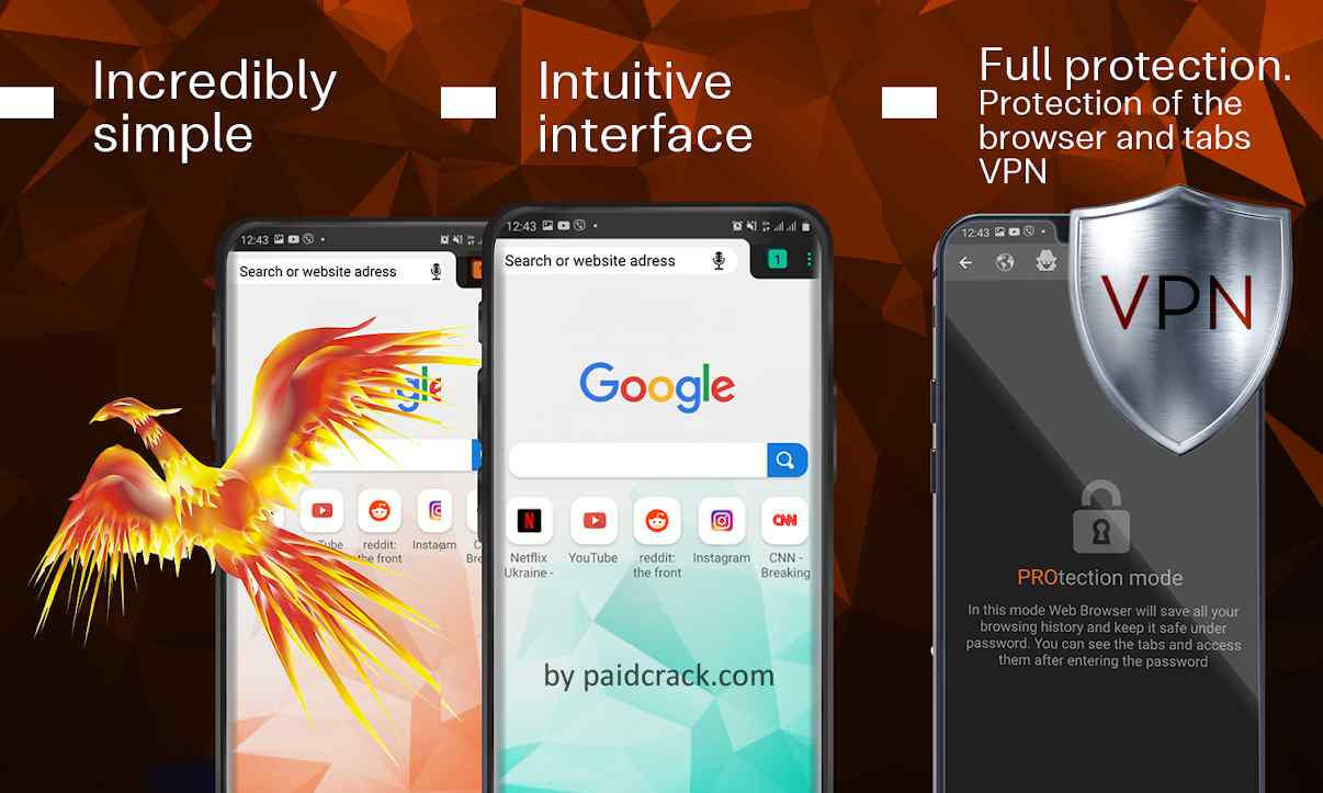 Web Browser - Private Browser With Free VPN Pro Mod Apk 2.1