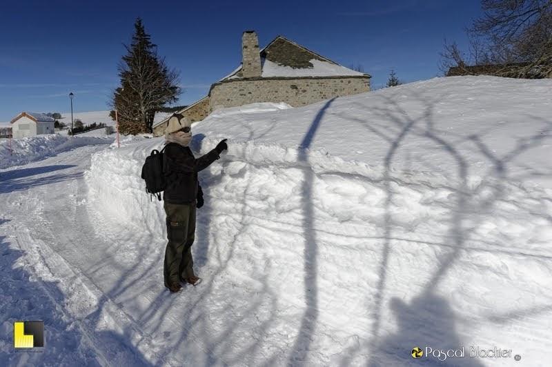 Au delà du cliché hauteur de neige à Lachamp Raphael photo Pascal Blachier