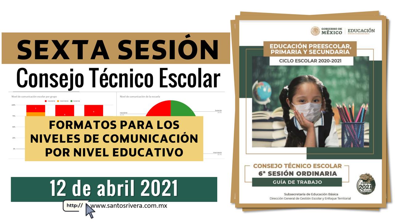 Productos contestados de la sexta sesión de Consejo Técnico Escolar 2021